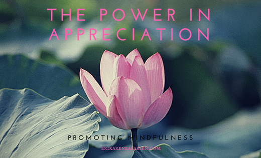 appreciation, mindfulness Reiki Master Erika Renea Lasren, Erika Larsen, hypnotherapy, hypnosis, past life regression, coaching, life coach, reiki